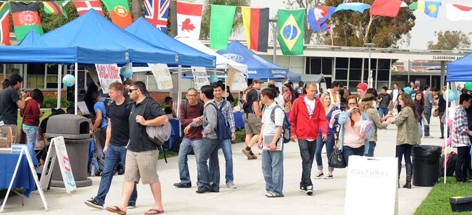 Students at the Multicultural Fair